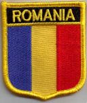 Romania Embroidered Flag Patch, style 07.